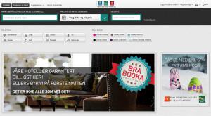 Skjermdump fra forsiden til Nordic Choice Hotels